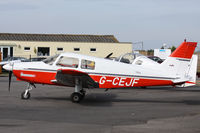 G-CEJF @ EGHH - Operated by Bournemouth Flying Club. - by Howard J Curtis
