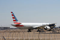 N717AN @ DFW - American Airlines new paint 777-300 at DFW Airport - by Zane Adams