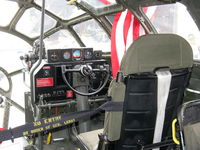 N529B @ CMA - 1944 Boeing B-29 SUPERFORTRESS 'FIFI', four Wright R3350-42 Cyclone 18 turbocharged engines 2,200 Hp each. Copilot's position, flight controls and panels. - by Doug Robertson