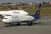 CX-PUB @ SBGR - Pluna B763 taxiing to gate - by FerryPNL