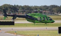 N217RM @ ORL - Bell 407 recently re-registered from N207RM and repainted