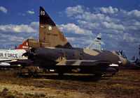 56-1266 @ DMA - F-102A Delta Dagger of 118th Fighter Interceptor Squadron Texas ANG in storage at what was then known as the Military Aircraft Storage & Disposition Centre - MASDC - in May 1973. - by Peter Nicholson
