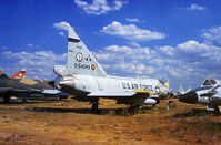 55-4049 @ DMA - TF-102A Delta Dagger of 182nd Tactical Fighter Squadron Texas ANG in storage at what was then known as the Military Aircraft Storage & Disposition Centre - MASDC - in May 1973. - by Peter Nicholson