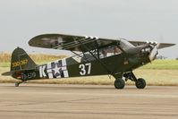 D-EJYD @ LFRH - Piper J3C-65, Lann Bihoué Naval Air Base (LFRH - LRT) - by Yves-Q