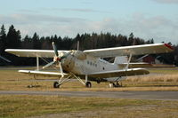 LY-ABS @ ESKN - An-2TP parked at Nyköping Skavsta airport, Sweden.It was at the time being used for paradropping by Nyköpings Fallskärmsklubb. - by Henk van Capelle