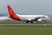 OM-SAA @ LOWL - Samair Boeing B737-476 landing in LOWL/LNZ - by Janos Palvoelgyi