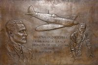 RW388 - Plaque at Potteries Museum & Art Gallery , commemorating local born Spitfire designer, 