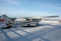 G-CCTW @ EGHA - In the snow. - by Howard J Curtis