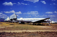 54-4067 @ DMA - C-121G Super Constellation of 147th Military Airlift Squadron Pennsylvania ANG in storage at what was then known as the Military Aircraft Storage & Disposition Centre - MASDC - in May 1973. - by Peter Nicholson