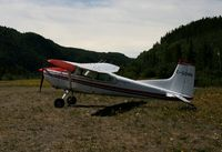 C-GORH @ YTX - Tied down at Telegraph Creek, British Columbia. - by Murray Lundberg