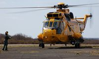 ZH541 @ EGFH - Visiting RAF SAR Sea King helicopter coded V from  22 Squadron on a training excercise. - by Roger Winser