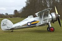 G-AMRK @ EGTH - 1937 Gloster Gladiator I, c/n: L8032 wears marks K7985