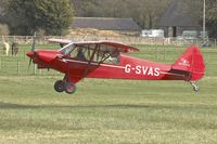 G-SVAS @ EGGW - 1961 Piper PA-18-150, c/n: 18-7605 at Old Warden