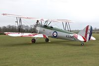G-AHSA @ EGTH - 1933 Avro 621 TUTOR, c/n: K3215 wears marks K3241 at Old Warden - by Terry Fletcher