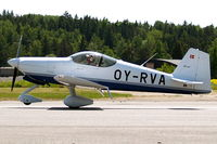 OY-RVA @ ESKB - Van's RV-6A [25032] Stockholm-Barkarby~SE 07/06/2008. Just touching down.