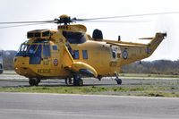 ZH541 @ EGFH - Visiting Westland Sea King coded V of 22 Squadron RAF (Rescue 169) hot refuel. - by Roger Winser