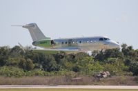 N280FR @ ORL - Unpainted new G280 returning from time trials