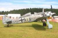 D-FMFW @ EDGB - This Flugwerk Fw190 was at an airshow on a small airfield, Breitscheid, in the German Westerwald - by lkuipers