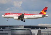 N398AV @ MIA - Avianca A320