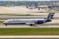 N955AT @ KATL - Boeing 717-2BD [55017] (AirTrans Airways) Atlanta-Hartsfield~N 12/04/2010. Shown with reverse thruster applied.