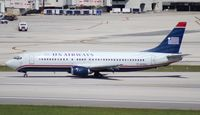 N419US @ MIA - US Airways 737-400