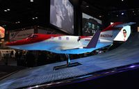 N420HM - Large scale model with working lights of Honda Jet at Orange County Convention Center Orlando for NBAA