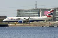 G-LCYR @ EGLC - 2012 Embraer ERJ 190SR, c/n: 19000563 at London City