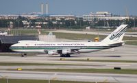 N486EV @ MIA - Evergreen 747-200