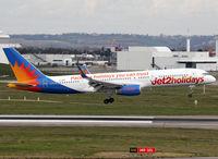 G-LSAC @ LFBO - Landing rwy 14R in Jet2 Holidays c/s - by Shunn311
