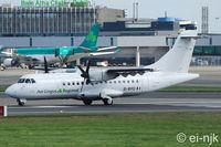 EI-BYO @ EIDW - Lined up for departure off Rwy 28 at Dublin. - by Noel Kearney
