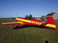 G-GKKI @ - - Lee about to depart Top Farm airstrip. - by Ashley Flynn