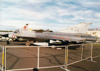 22 @ EGQL - Saab J-35OE Draken, callsign Dragon 90, of Austrian Air Force's 2 Staffel on display at the 2000 RAF Leuchars Airshow. - by Peter Nicholson
