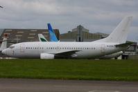 EI-EYV @ EGHL - ex OO-JAT Jetairfly B737 stored at Lasham - by Chris Hall