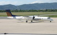 D-ADHT @ LOWG - Lufthansa Regional (Augsburg Airways) De Havilland Canada DHC-8-402Q - by Andi F