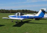 G-BGRR @ EGHP - Piper Tomahawk at Popham. Ex OO-FLT - by moxy