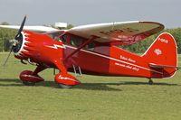 F-GPJS @ LFFQ - Stinson SR10C, c/n: 3-5846 offering pleasure flights at La Ferte Alais during the 2013 Airshow