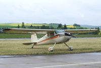N2154N @ ETHM - Cessna 140 during an open day at the Fliegendes Museum Mendig (Flying Museum) at former German Army Aviation base, now civilian Mendig airfield