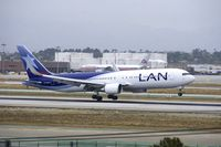 CC-BDH @ KLAX - Lan Chile 767-300 w/ winglets - by speedbrds