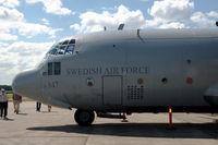 84007 @ ESOW - Swedish Air Force Tp84 Hercules at Västerås Hässlö airport, Sweden. Note the 30 Afghanistan markings next to the door. - by Henk van Capelle