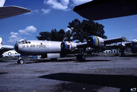 44-61975 @ BDL - '461975' B-29A-55-BN reassembly progress, after road transport from Aberdeen Proving Grounds (APG) Maryland - by John Hevesi