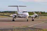 G-FLYW @ EGFH - Super King Air operated by Haverfordwest based FlyWales bringing participants in the Heroes Challenge UK fund raising cycle ride to Swansea Airport. Registered G-LIVY between 24 March 2011 and 17 December 2012. - by Roger Winser