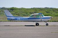 G-BNSM @ EGFH - Visiting Cessna 152 operated by Cornwall Flying Club. - by Roger Winser