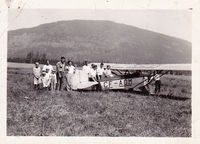 CF-AOM - found in passed away mothers old family photos most likely taken in Okanagon B C. Old, open cockpit single high wing. Not same plane as pic of C-FOAM on your site , on floats. - by unknown