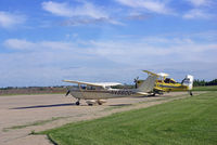 N46600 @ KEVU - Sitting on the ramp getting ready to take 3 young Eagles up - by Floyd Taber