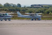 G-OARS @ EGFH - Visiting Cessna Skyhawk SP. - by Roger Winser
