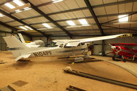 N104PF @ EGBG - in the turntable hangar at Leicester - by Chris Hall