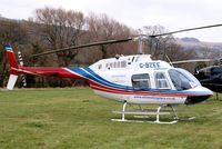 G-BZEE @ EGBC - Agusta-Bell AB.206B Jet Ranger II [8554] (Elite Helicopters) Cheltenham Racecourse~G 16/03/2012. Close up of main frame.