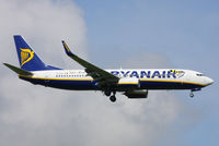 EI-EVD @ EGSS - Ryanair B737 with well done Dortmund titles and scarf - by Chris Hall