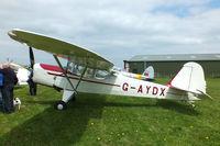 G-AYDX @ EGCV - at the Vintage Aircraft flyin - by Chris Hall