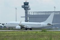 D-AHFS @ EDDP - Arrival on rwy 08L is passing tower and AN 124 hangar... - by Holger Zengler